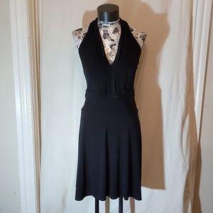 LAUNDRY BY SHELLI SEGAL BLACK COCKTAIL DRESS SZ 2